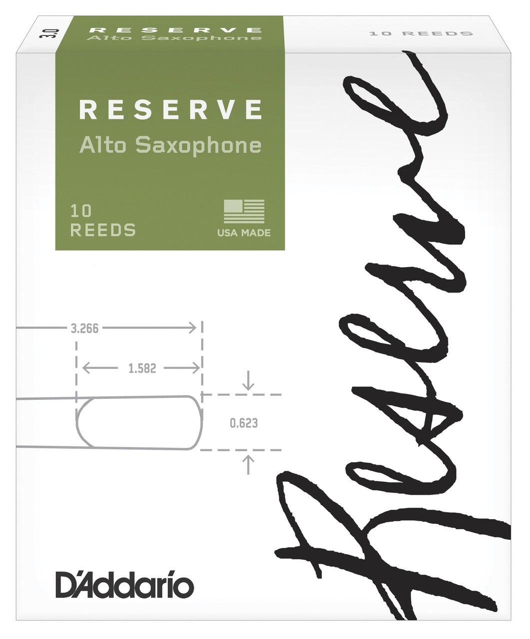 D'Addario Rico Reserve Alto Sax, 10 - 2,5