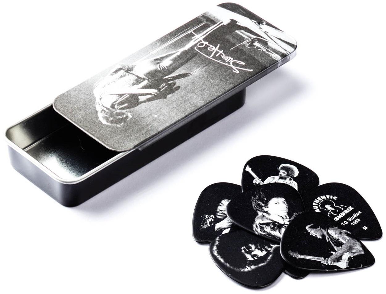 Dunlop Jimi Hendrix Pick Tin Silver Portrait II