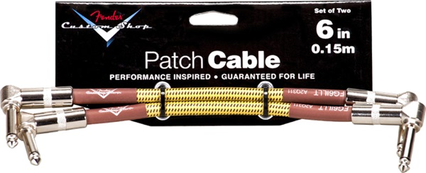 "Fender Custom Shop Cable 6"" Tweed Two-Pack"
