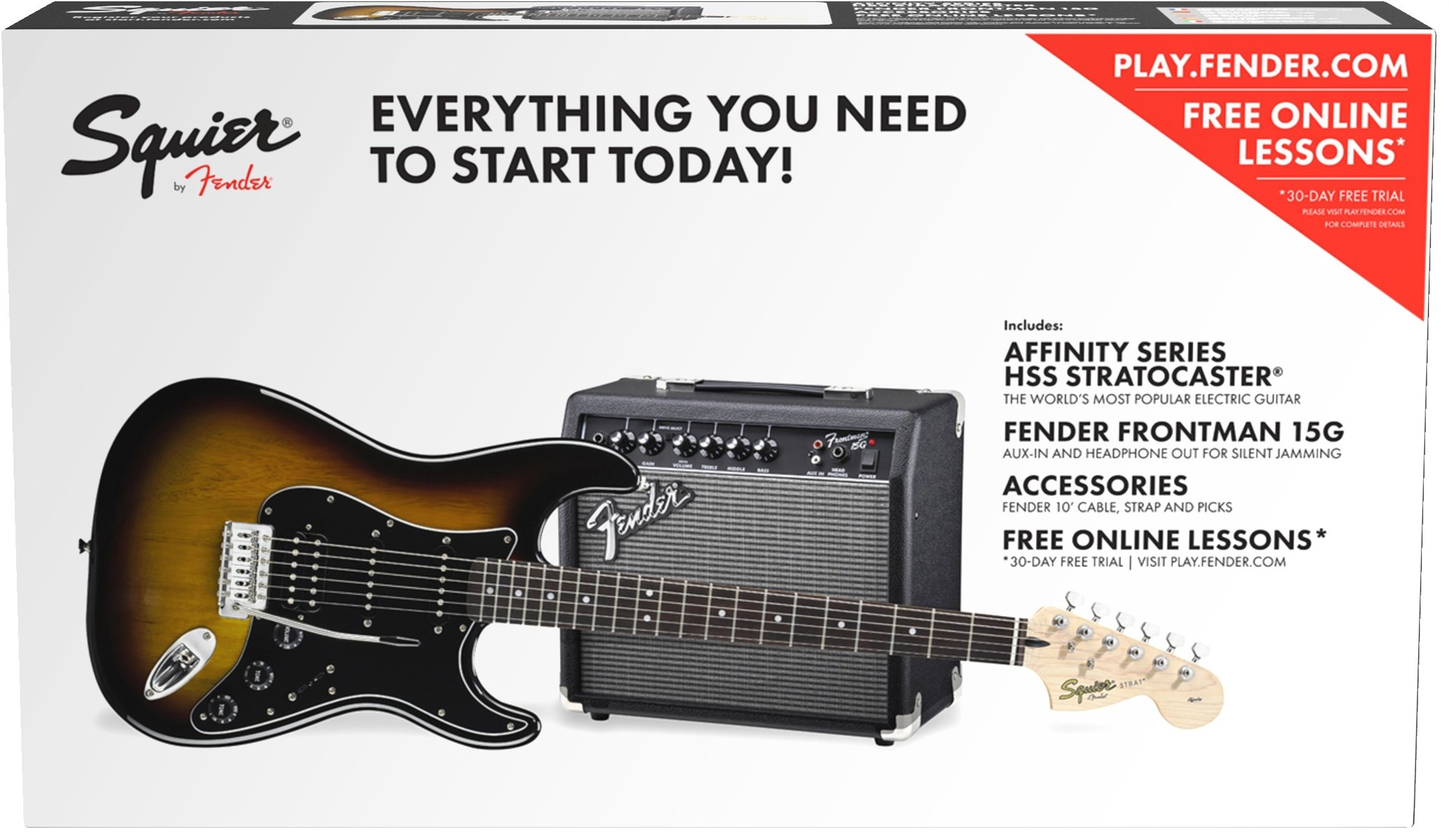 Fender Squier Affinity Series Stratocaster HSS 15G BSB