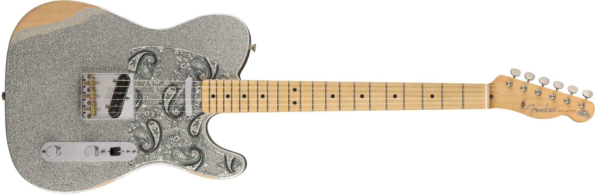 Fender Brad Paisley Road Worn Telecaster MN SLV
