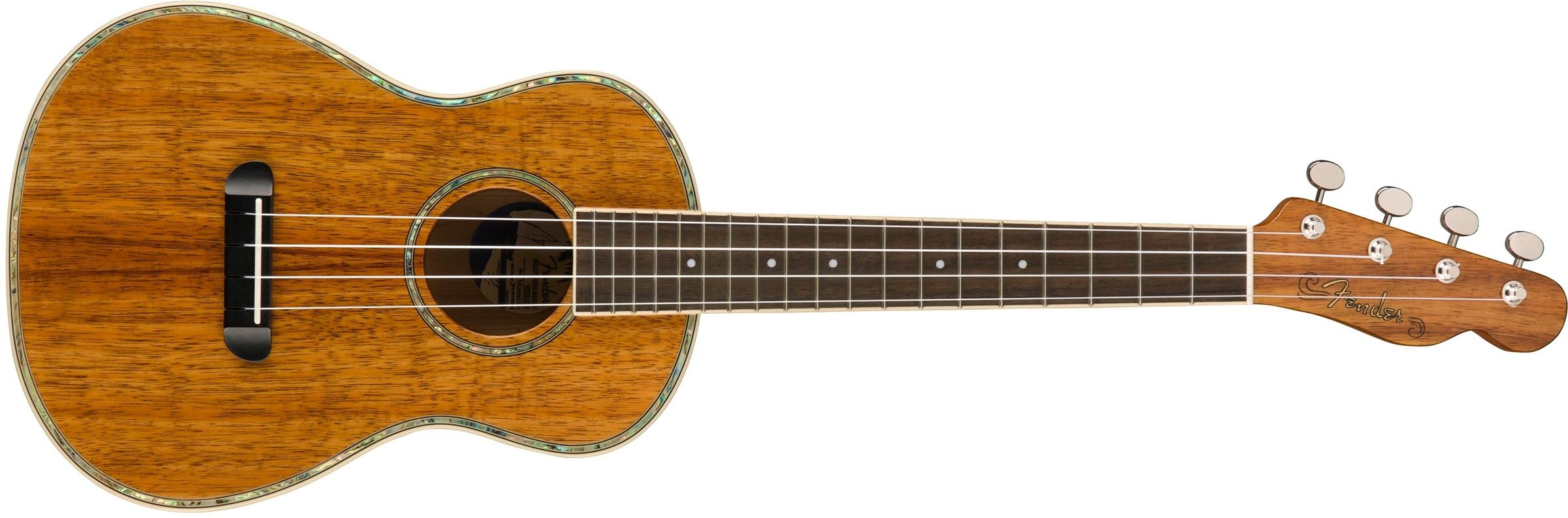 Fender Ukulele Montecito Koa NAT WB