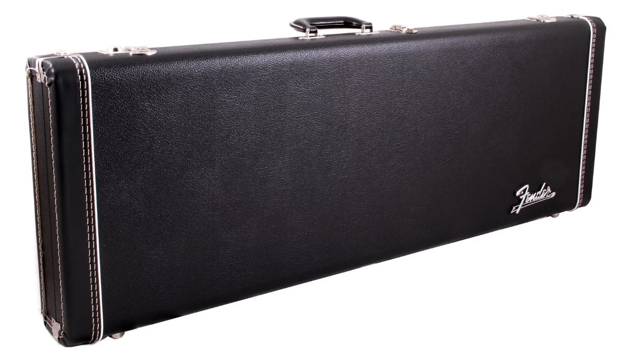 Fender Deluxe Case, Black w/ Orange Plush Interior