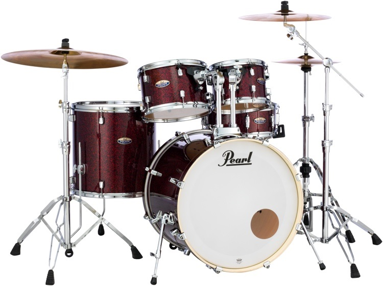 Pearl DMP Decade Slate Crimson Galaxy Flake