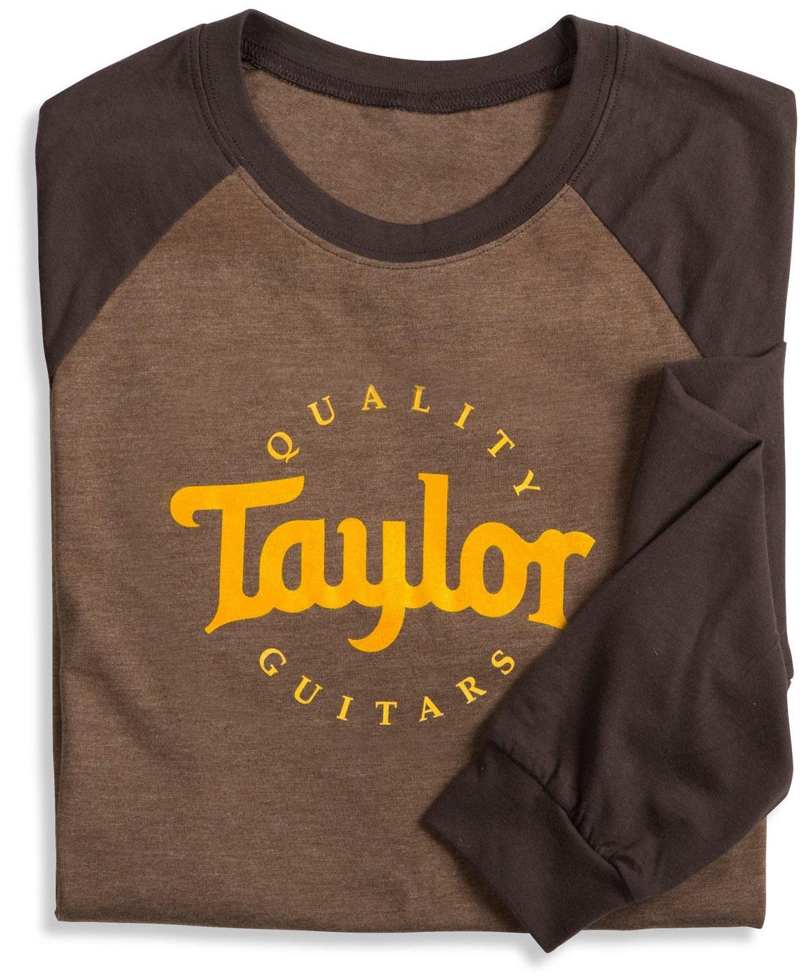 Taylor Baseball T-Shirt Long Sleeve Brown XXL