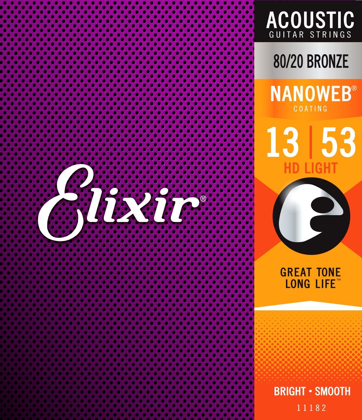 Elixir Nanoweb 80/20 Bronze HD Light