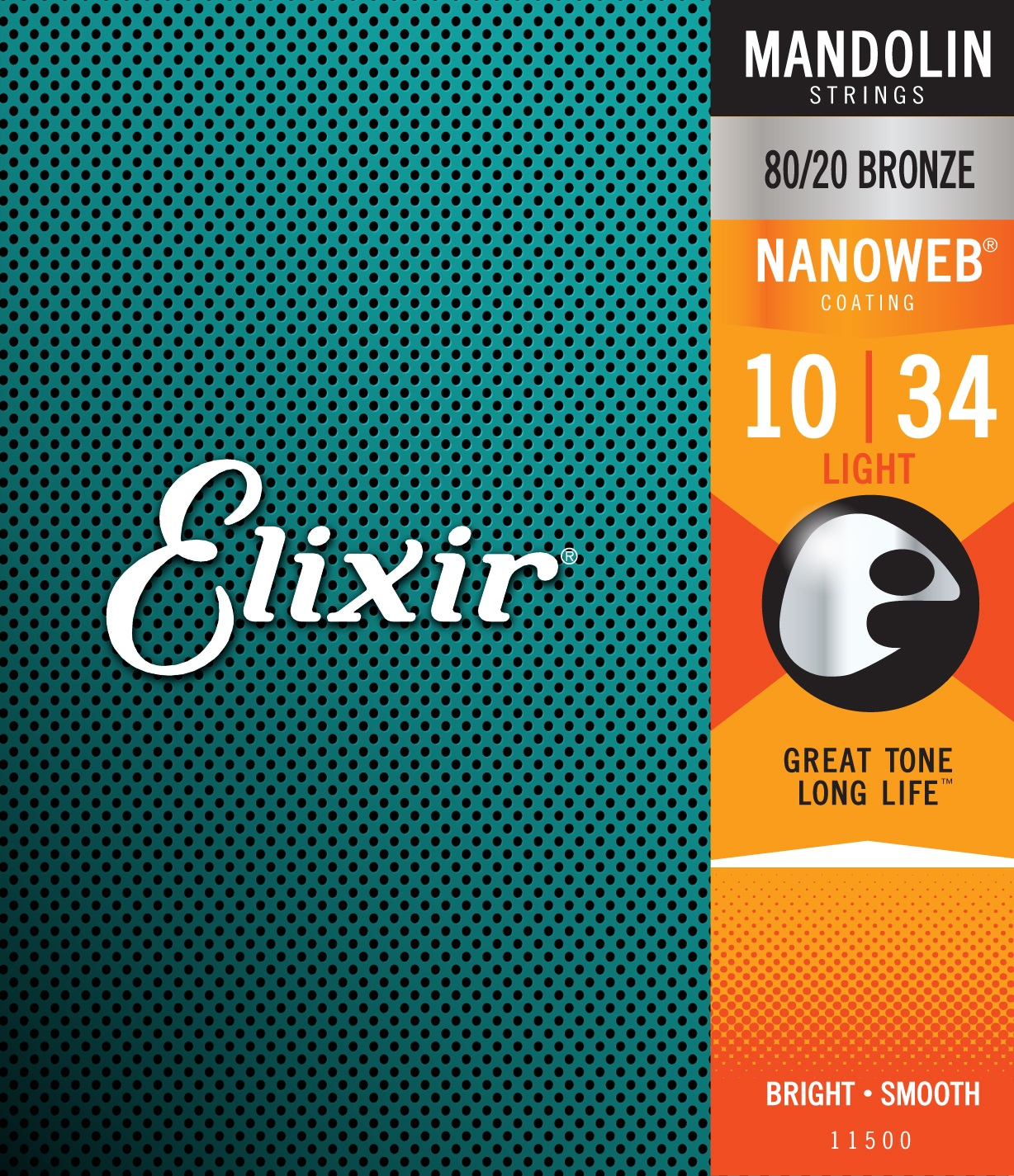 Elixir Nanoweb 80/20 Bronze Mandolin Light