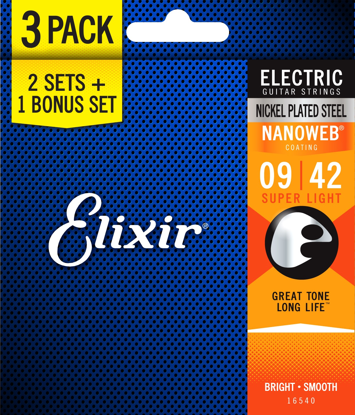 Elixir Nanoweb Super Light 3-Pack