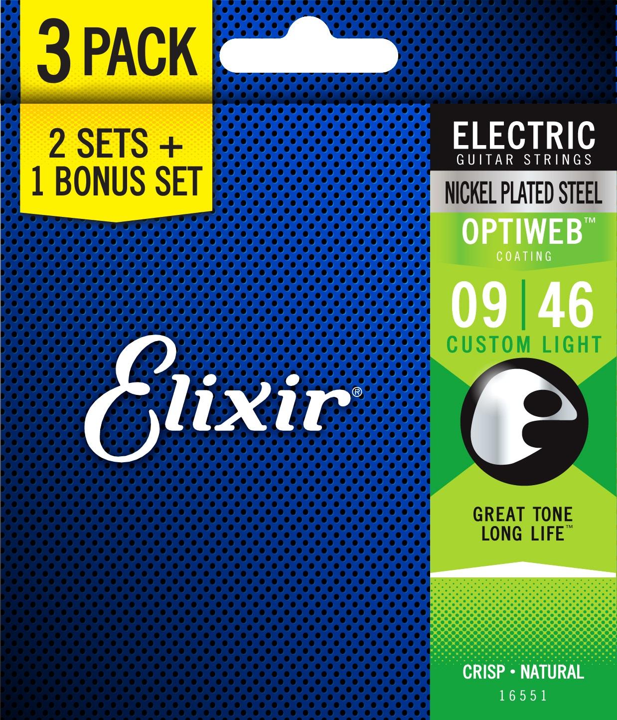 Elixir Optiweb Custom Light 3-Pack