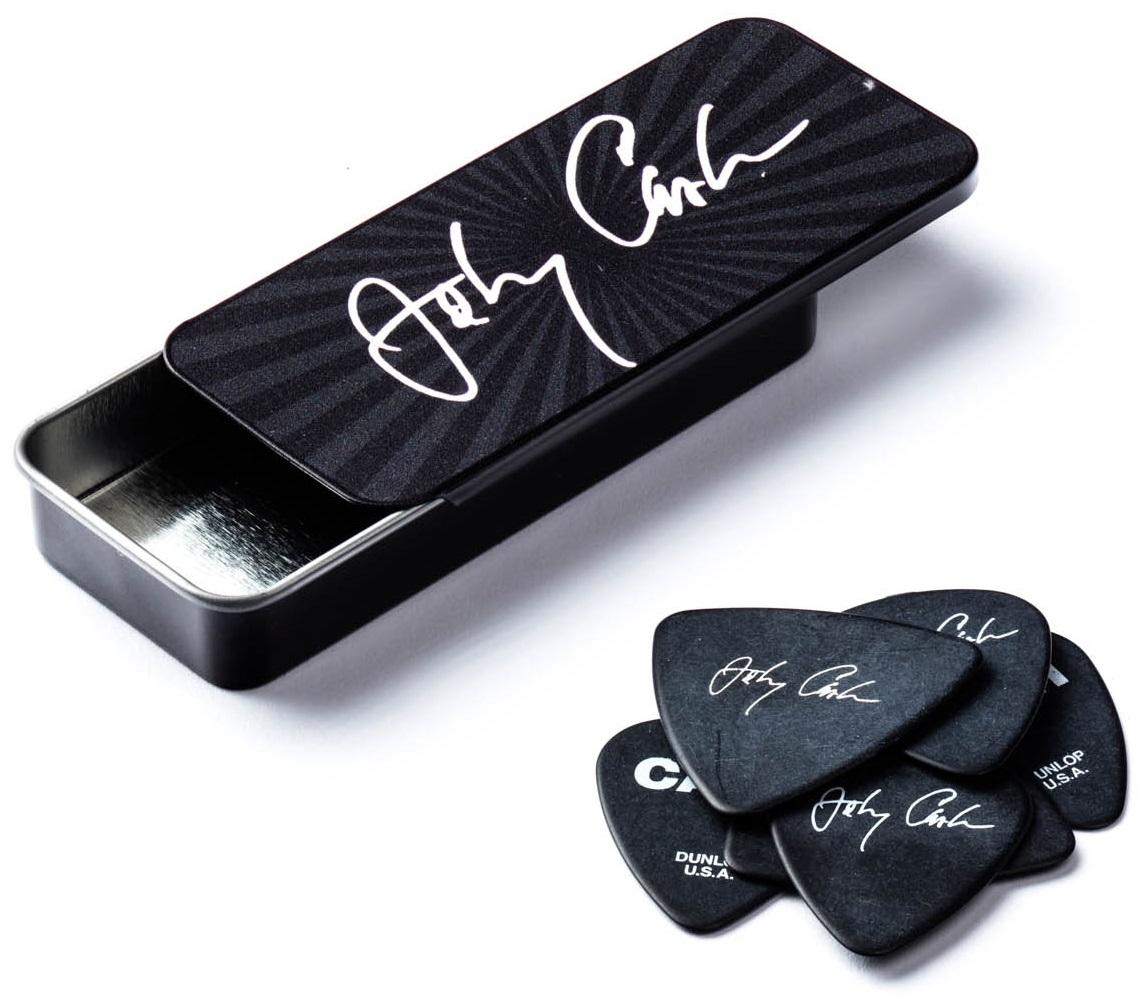 Dunlop Johnny Cash Tin Pick Box Signature Medium