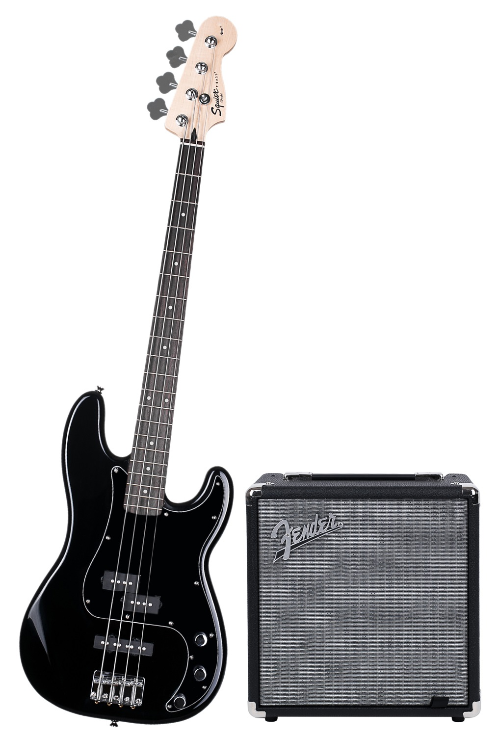 Fender Squier Affinity Series Precision Bass PJ BLK Pack