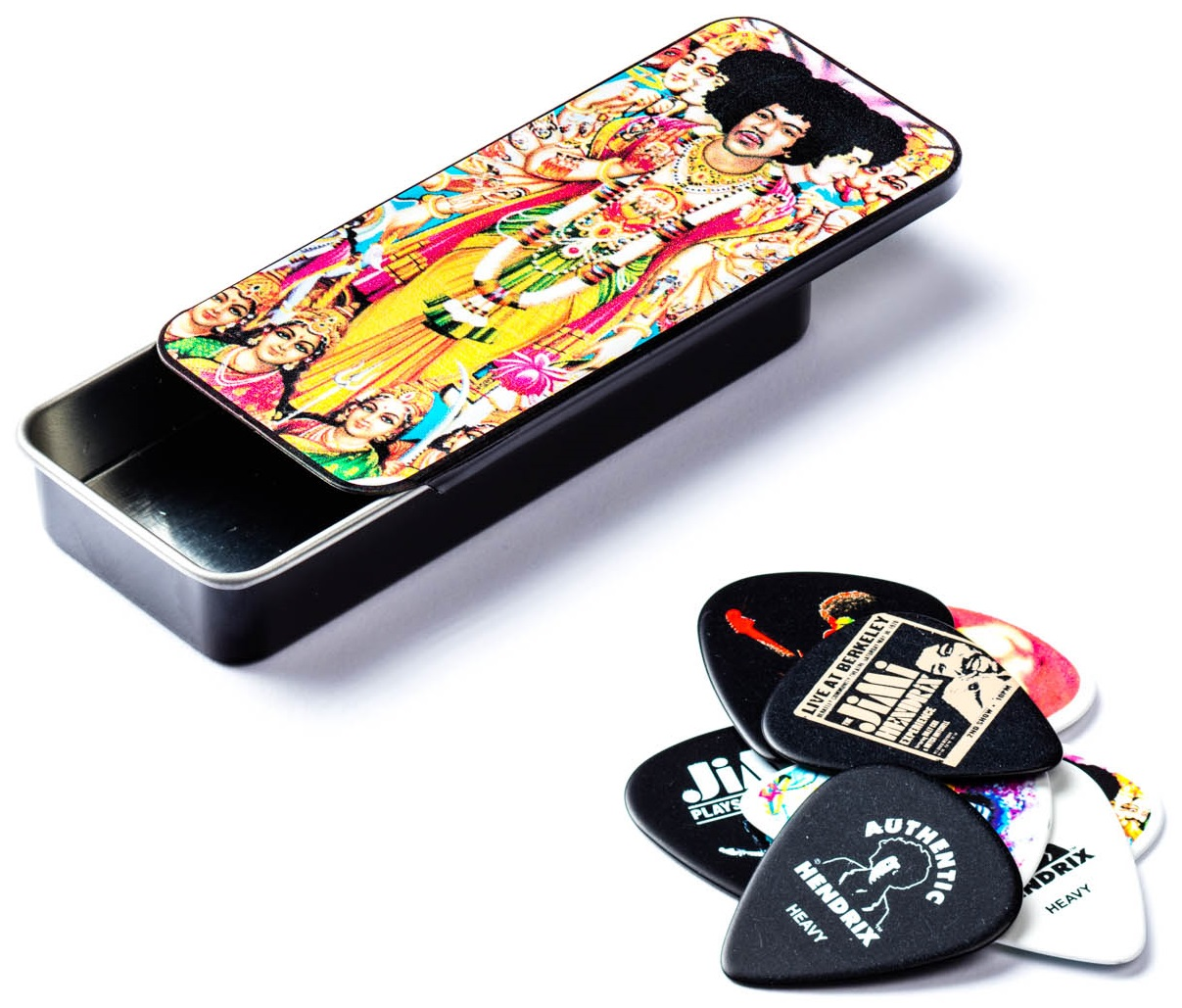 Dunlop Jimi Hendrix Pick Tin Bold As Love