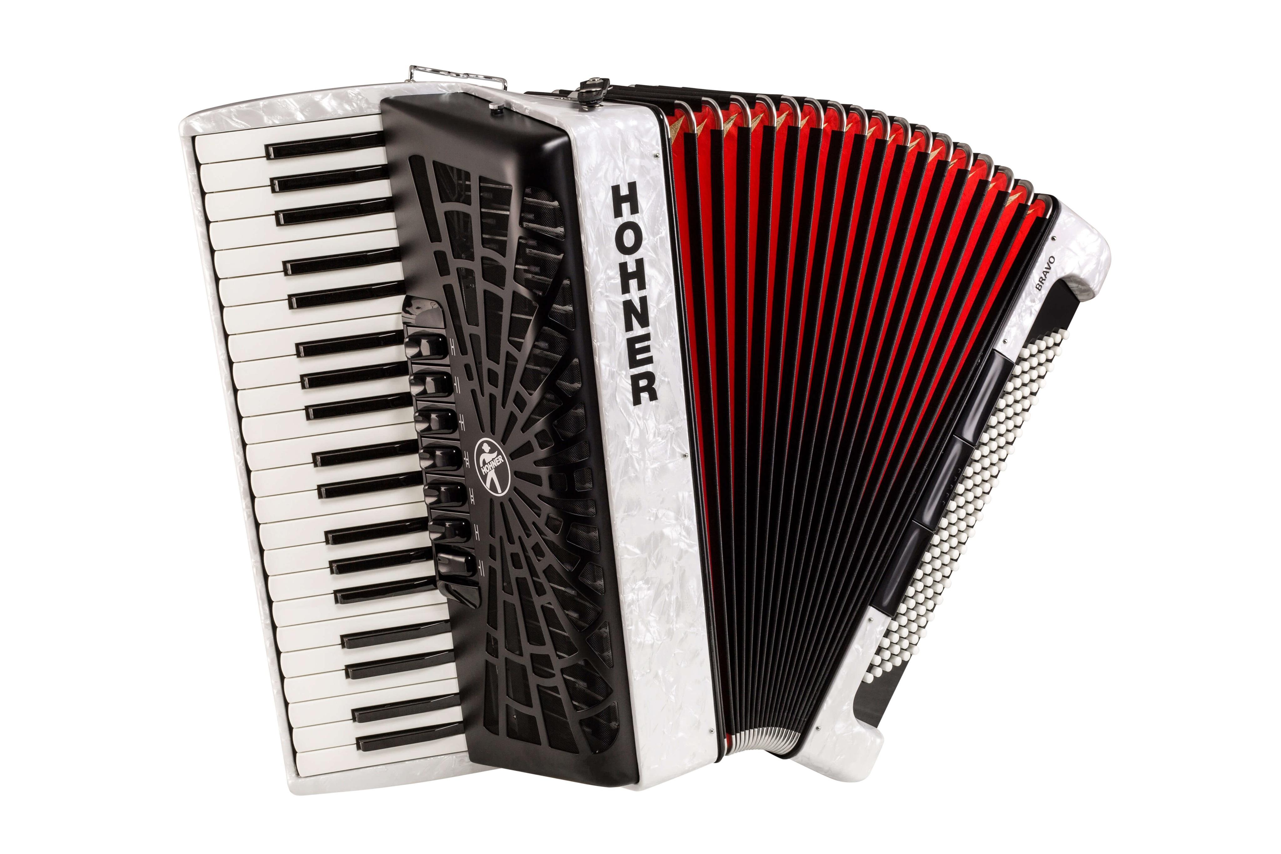 Hohner Bravo III 120 white (SilentKey)