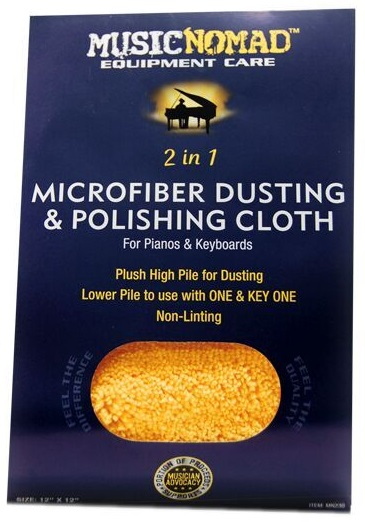 Music Nomad Microfiber Dusting & Polishing Cloth for Pianos & Keyboard