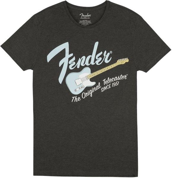 Fender Original Telecaster T-Shirt Dark Grey/Sonic Blue XL
