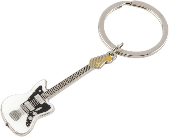 Fender Jazzmaster Keychain White