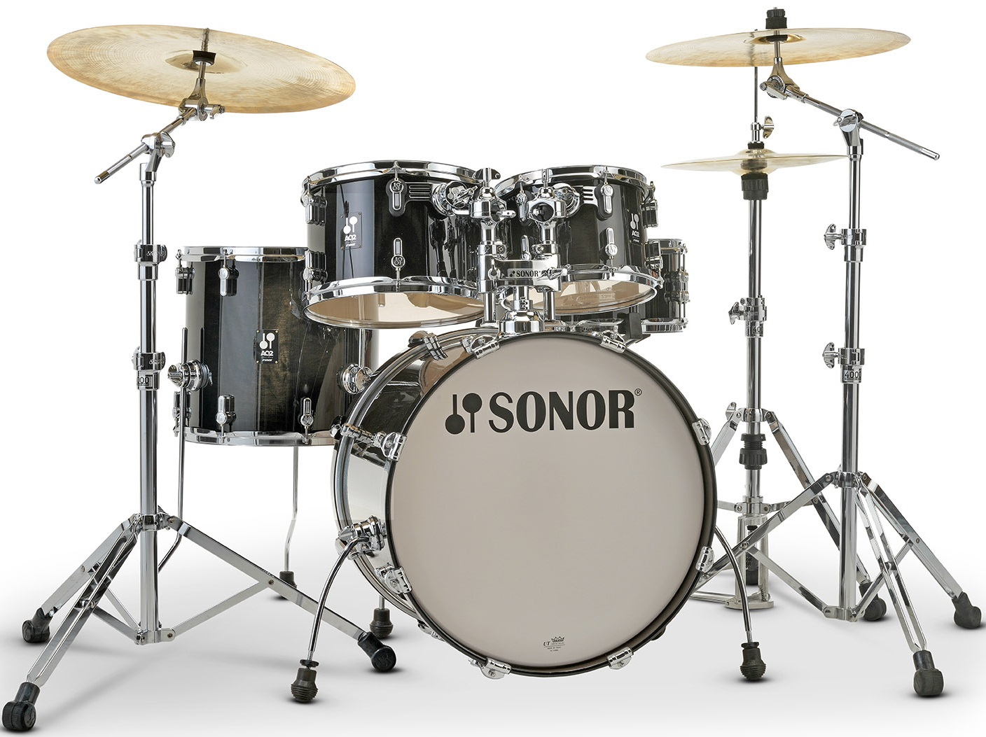Sonor AQ 2 Stage Set Transparent Black