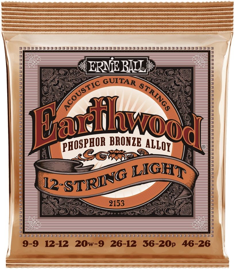 Ernie Ball Earthwood Phosphor Bronze 12-String Light