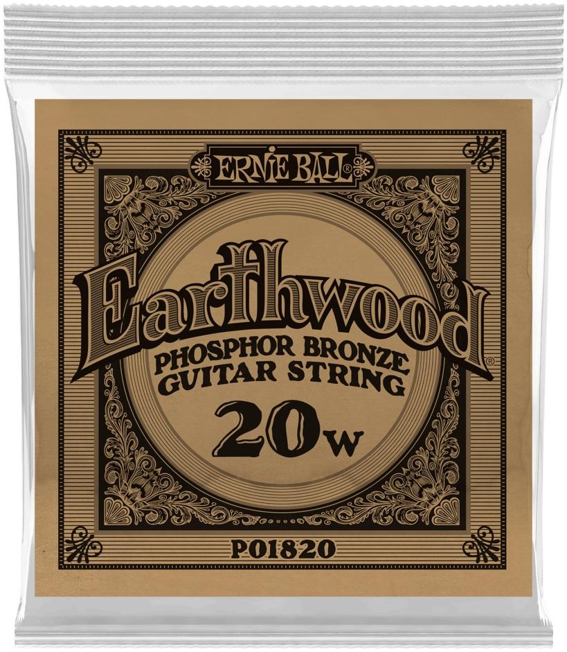 Ernie Ball Earthwood Phosphor Bronze Single .020