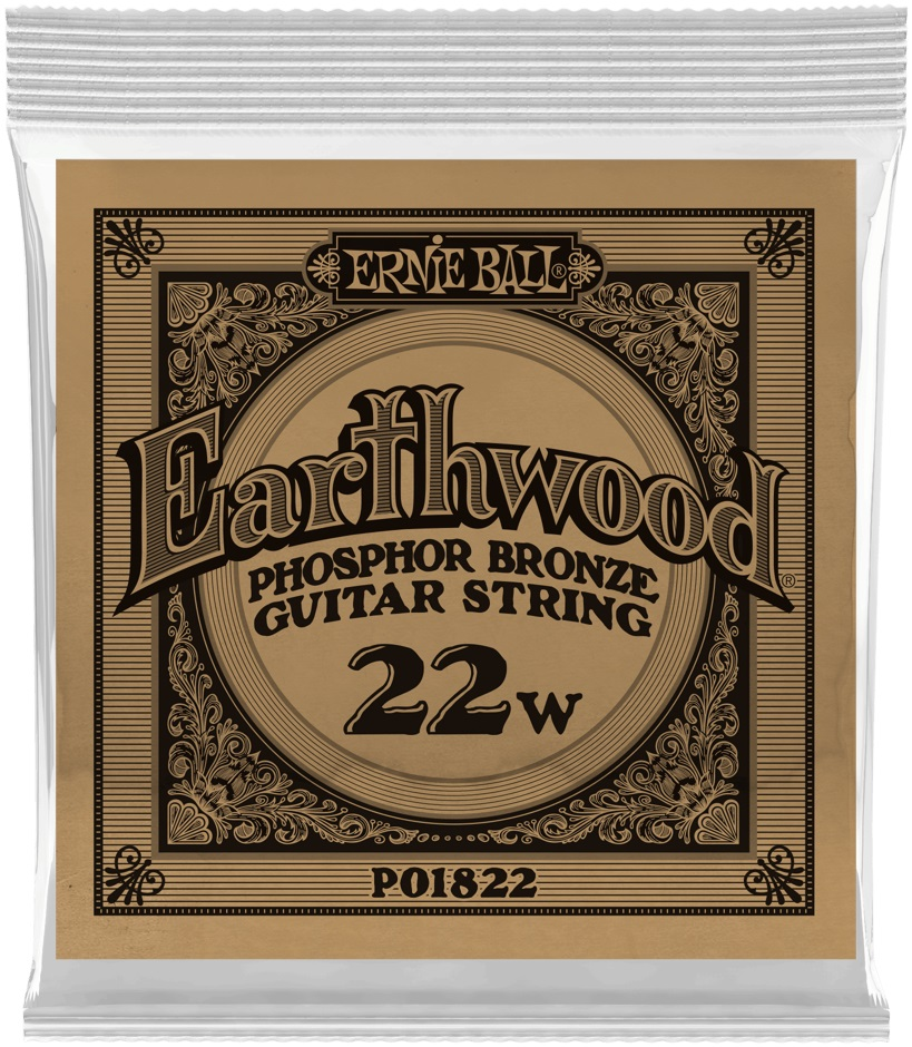 Ernie Ball Earthwood Phosphor Bronze Single .022