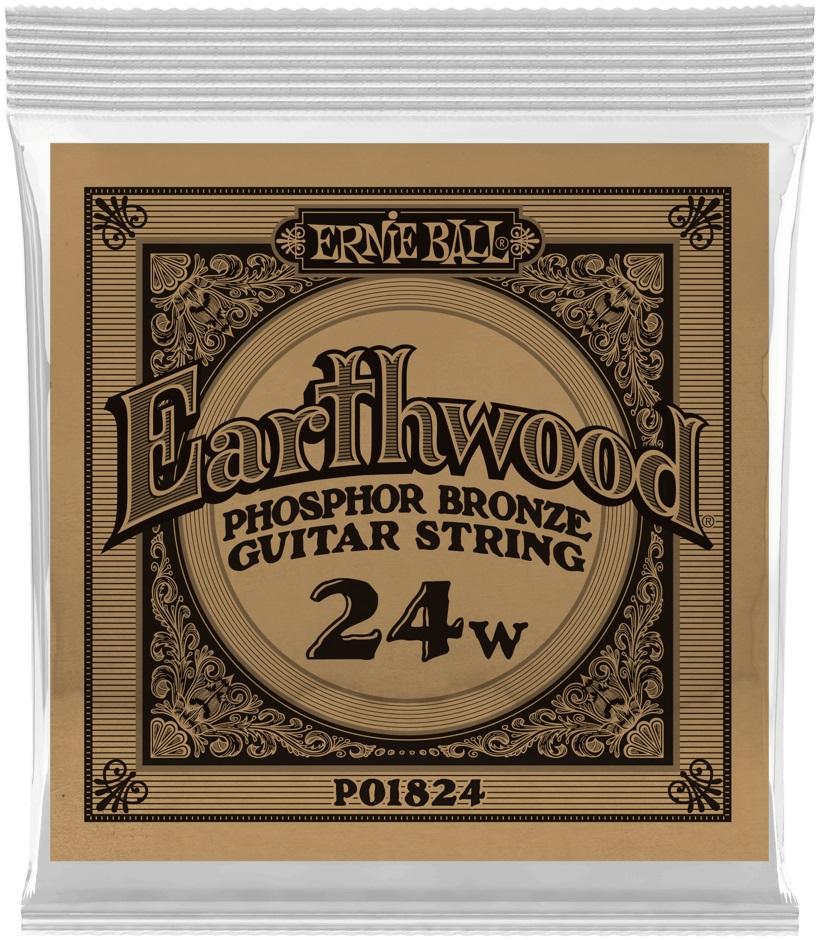 Ernie Ball Earthwood Phosphor Bronze Single .024