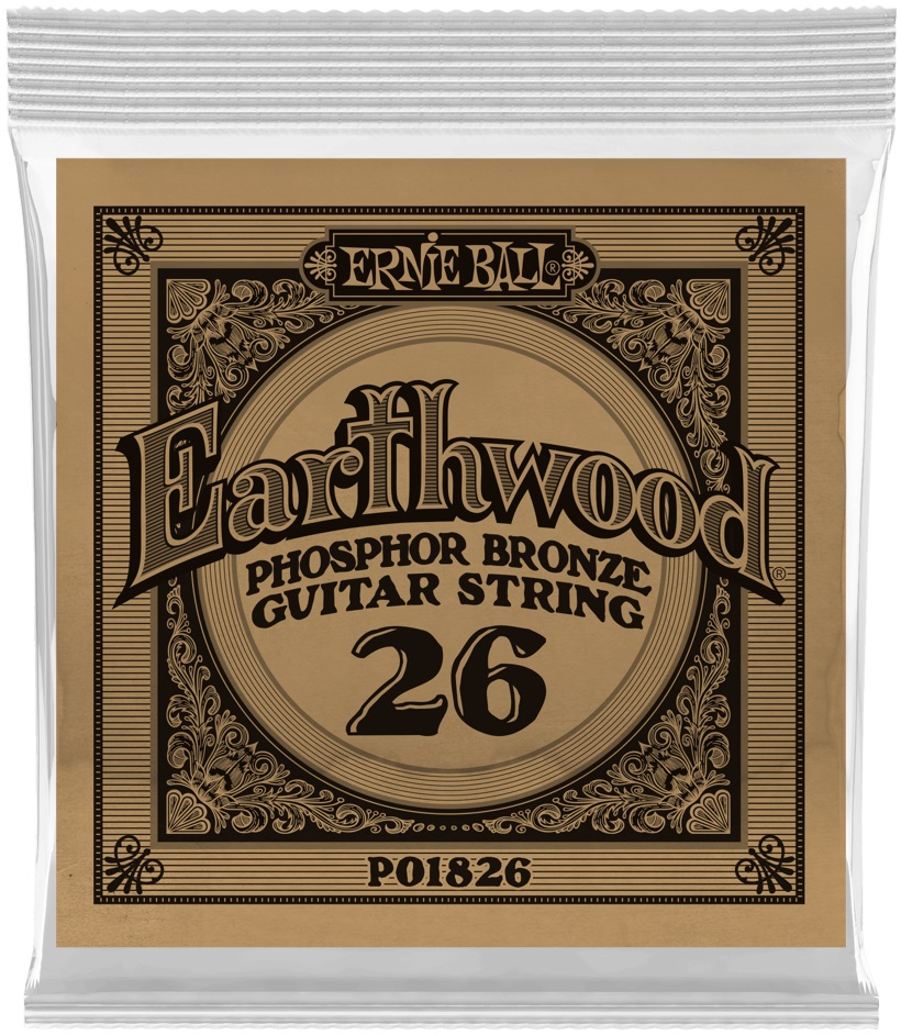Ernie Ball Earthwood Phosphor Bronze Single .026