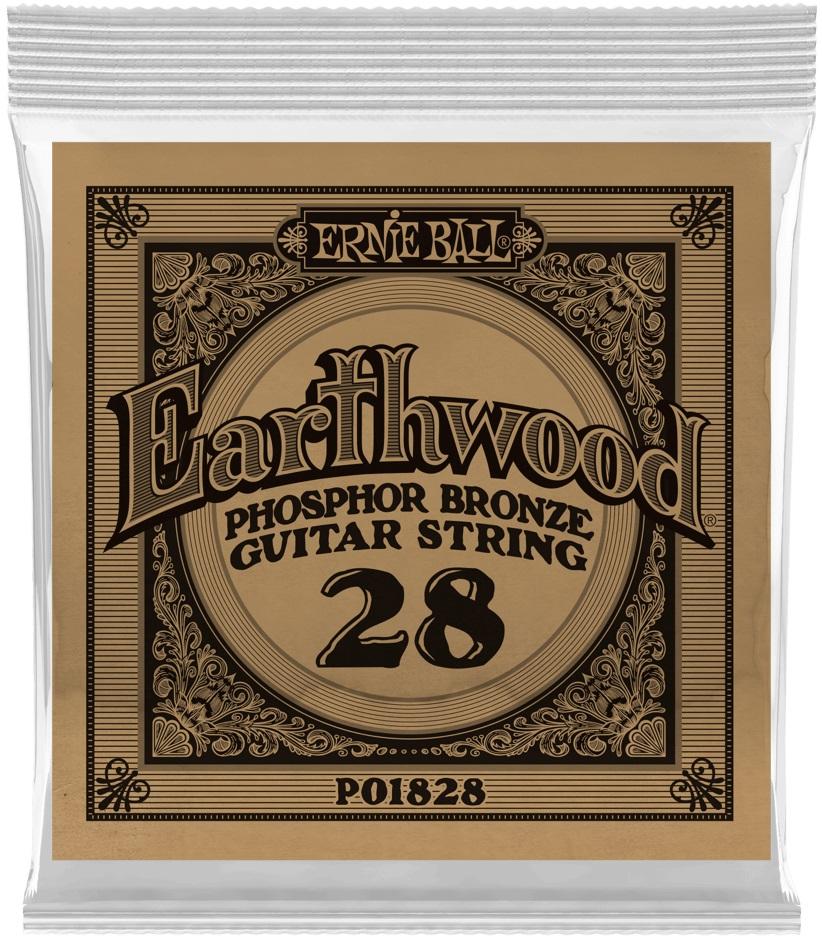 Ernie Ball Earthwood Phosphor Bronze Single .028