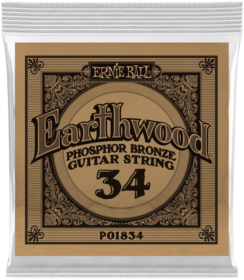 Ernie Ball Earthwood Phosphor Bronze Single .034