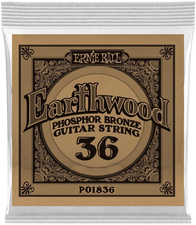 Ernie Ball Earthwood Phosphor Bronze Single .036