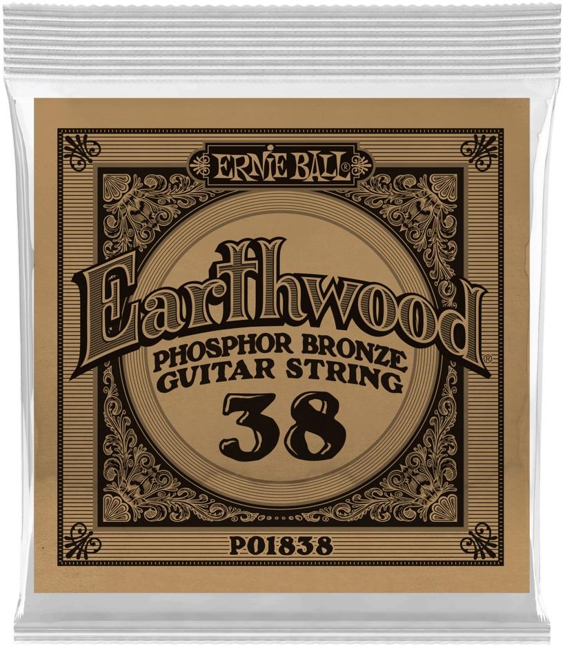 Ernie Ball Earthwood Phosphor Bronze Single .038