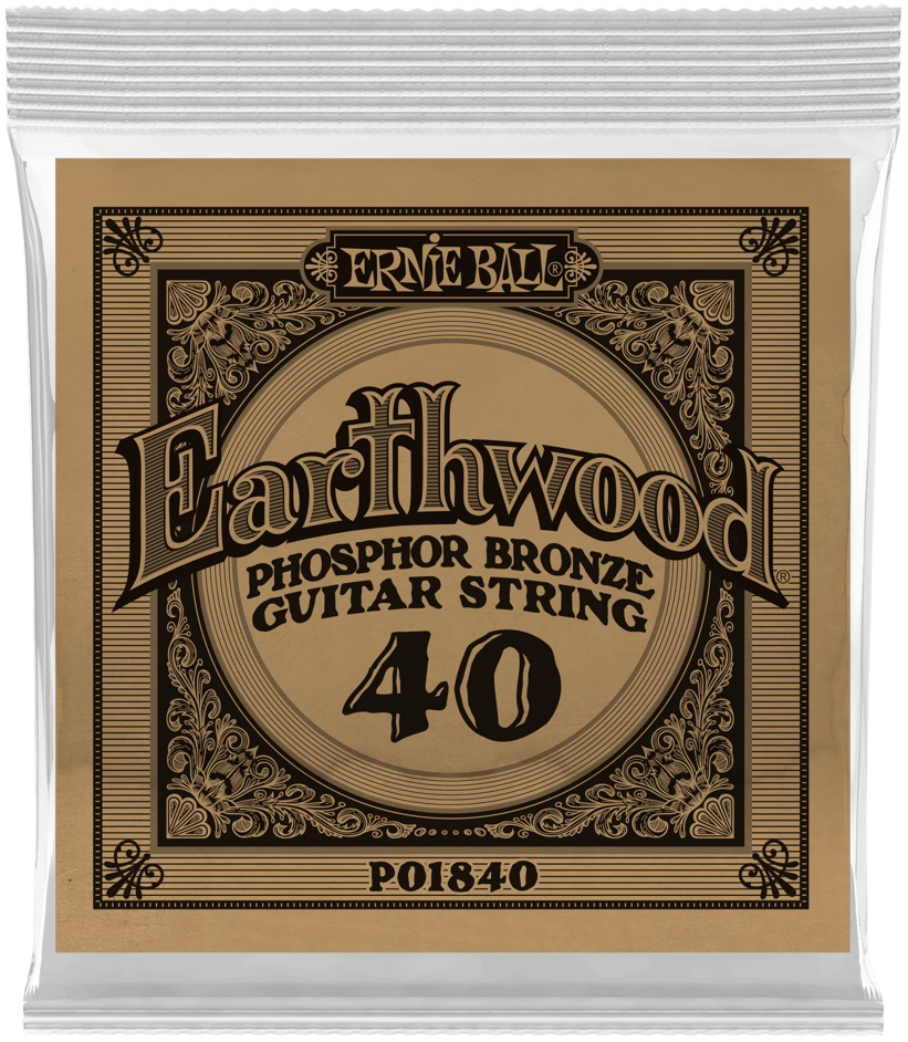 Ernie Ball Earthwood Phosphor Bronze Single .040
