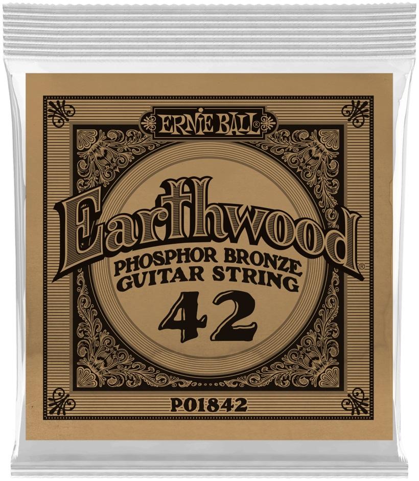 Ernie Ball Earthwood Phosphor Bronze Single .042