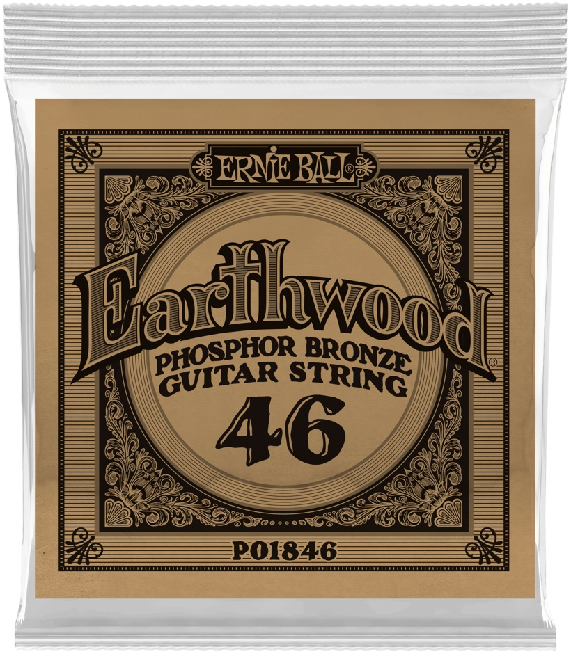 Ernie Ball Earthwood Phosphor Bronze Single .046