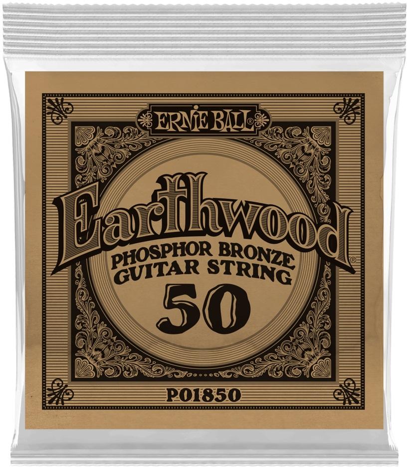 Ernie Ball Earthwood Phosphor Bronze Single .050
