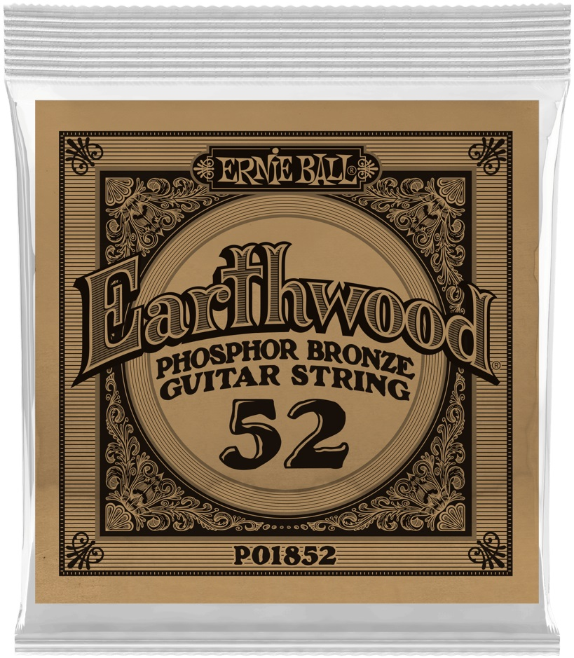 Ernie Ball Earthwood Phosphor Bronze Single .052