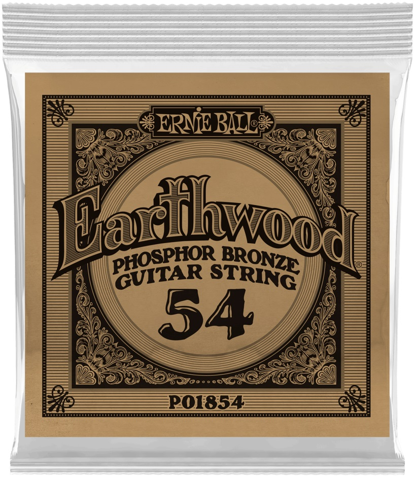Ernie Ball Earthwood Phosphor Bronze Single .054