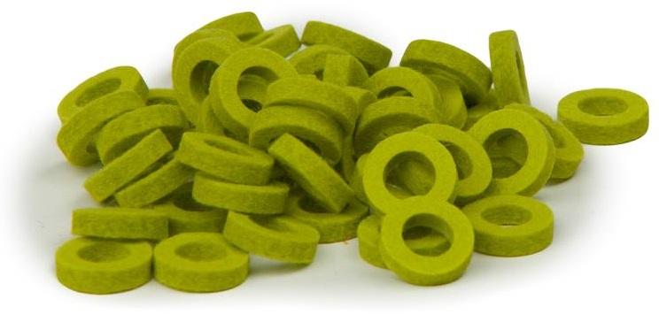 Bulldog Natural Felt Rings - Lime