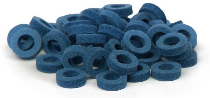 Bulldog Natural Felt Rings - Middle Blue