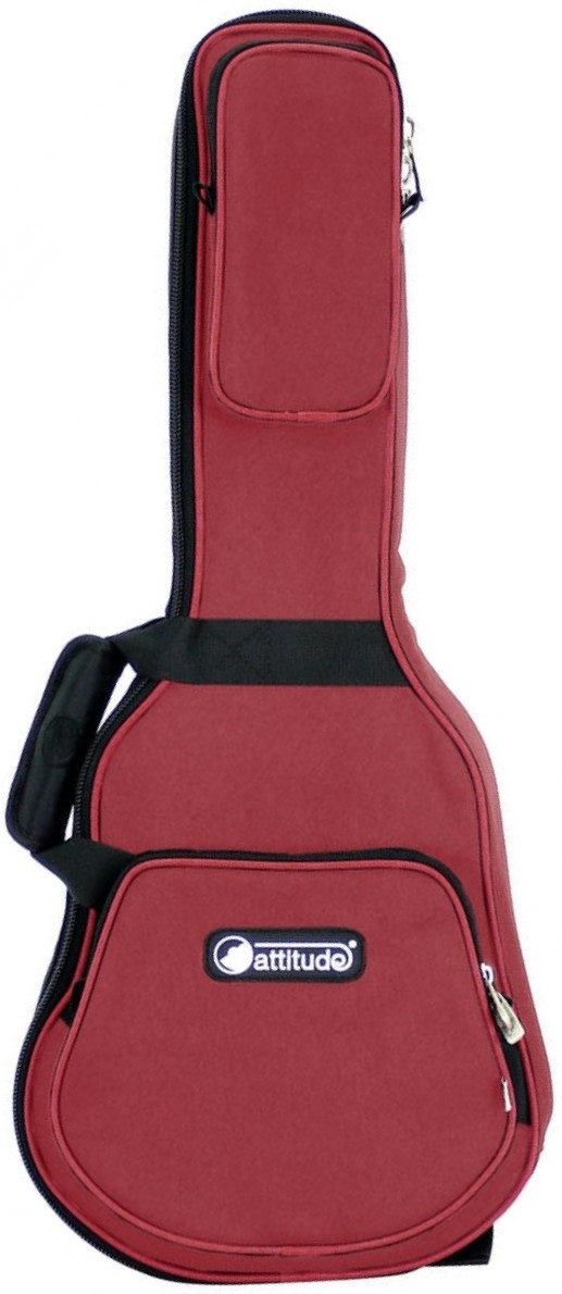 Attitude Busker Ukulele Bag Soprano Wine Red