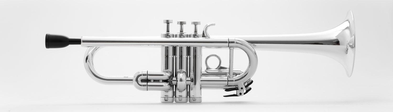 Tromba C Trumpet Silver Metal