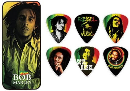 Dunlop Bob Marley Rasta Pick Tin Medium
