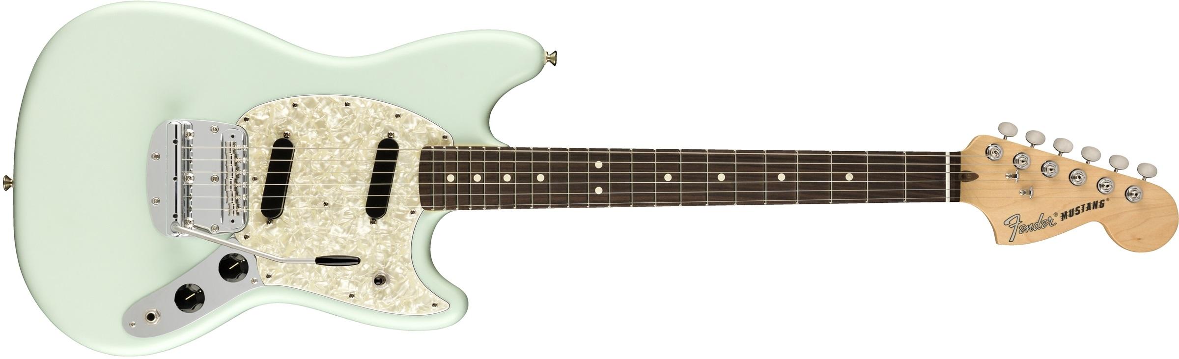 Fender American Performer Mustang RW Satin SBL