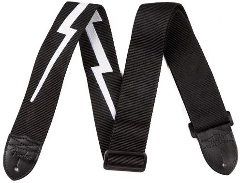 """Fender 2"""" Nylon Lightning Bolt Strap, Black"""