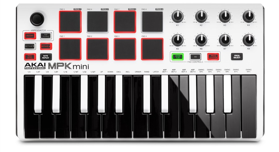Akai MPK Mini mkII White ltd. edition (použité)