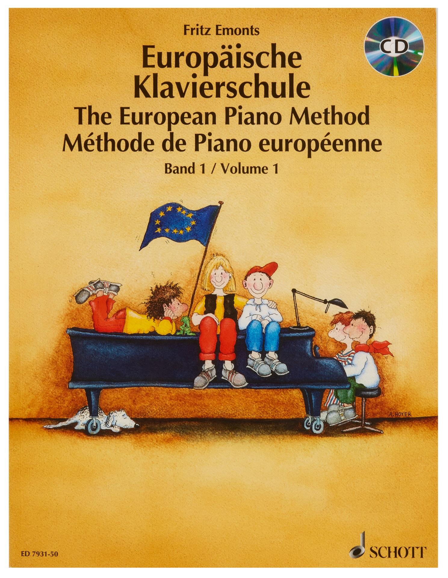 MS Evropská klavírní škola + CD - Emonts Fritz