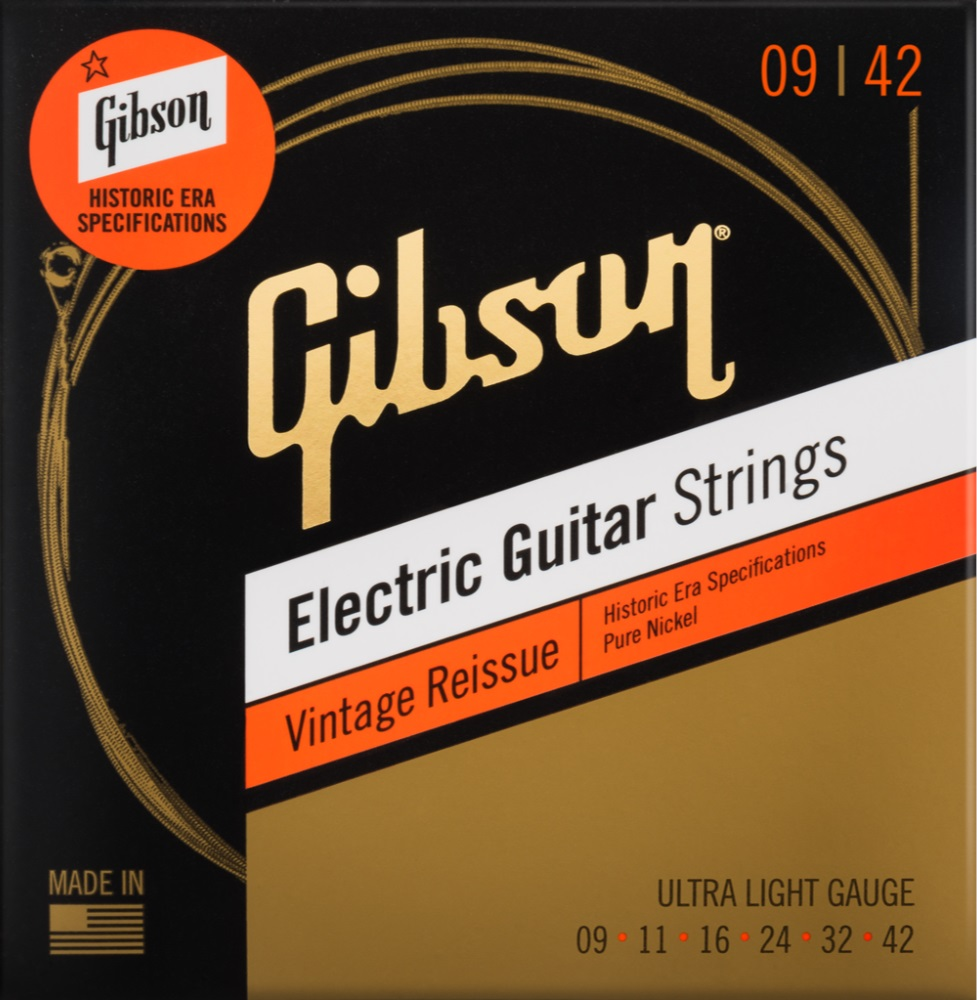 Gibson Vintage Reissue Electric Guitar Strings Ultra-Light