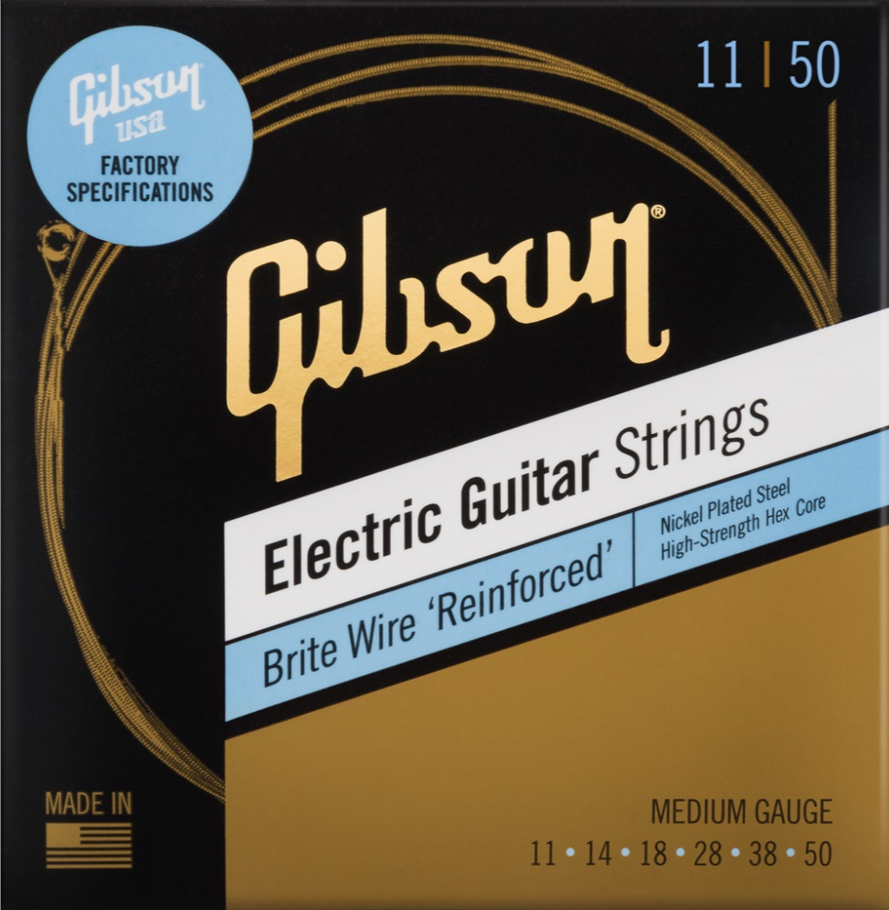 Gibson Brite Wire Reinforced Electric Gutar Strings Medium