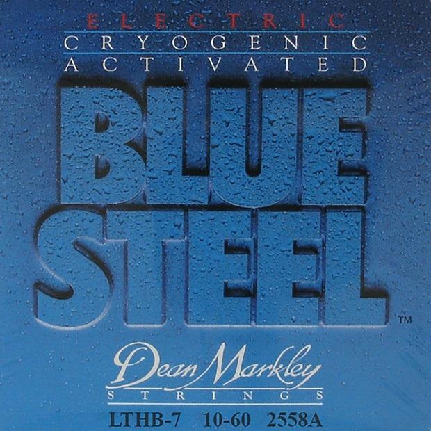 Dean Markley 2558A 7LTHB 10-60 Blue Steel Electr 010-013-017-030-042-052-060 LIGHT TOP HEAVY BOTTOM