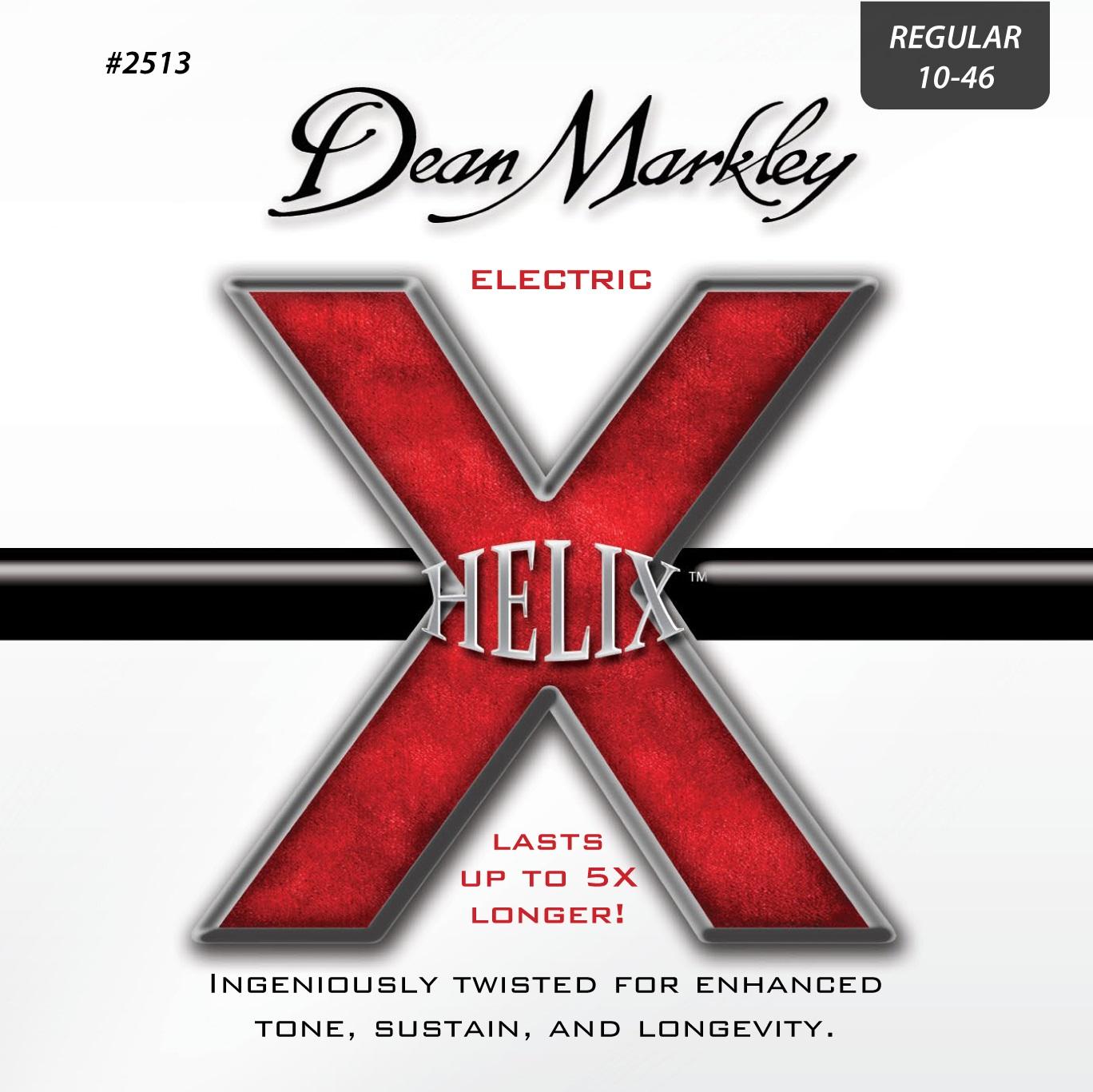 Dean Markley 2513 REG 10-46 Helix Electric 010-013-017-026-036-046 REGULAR