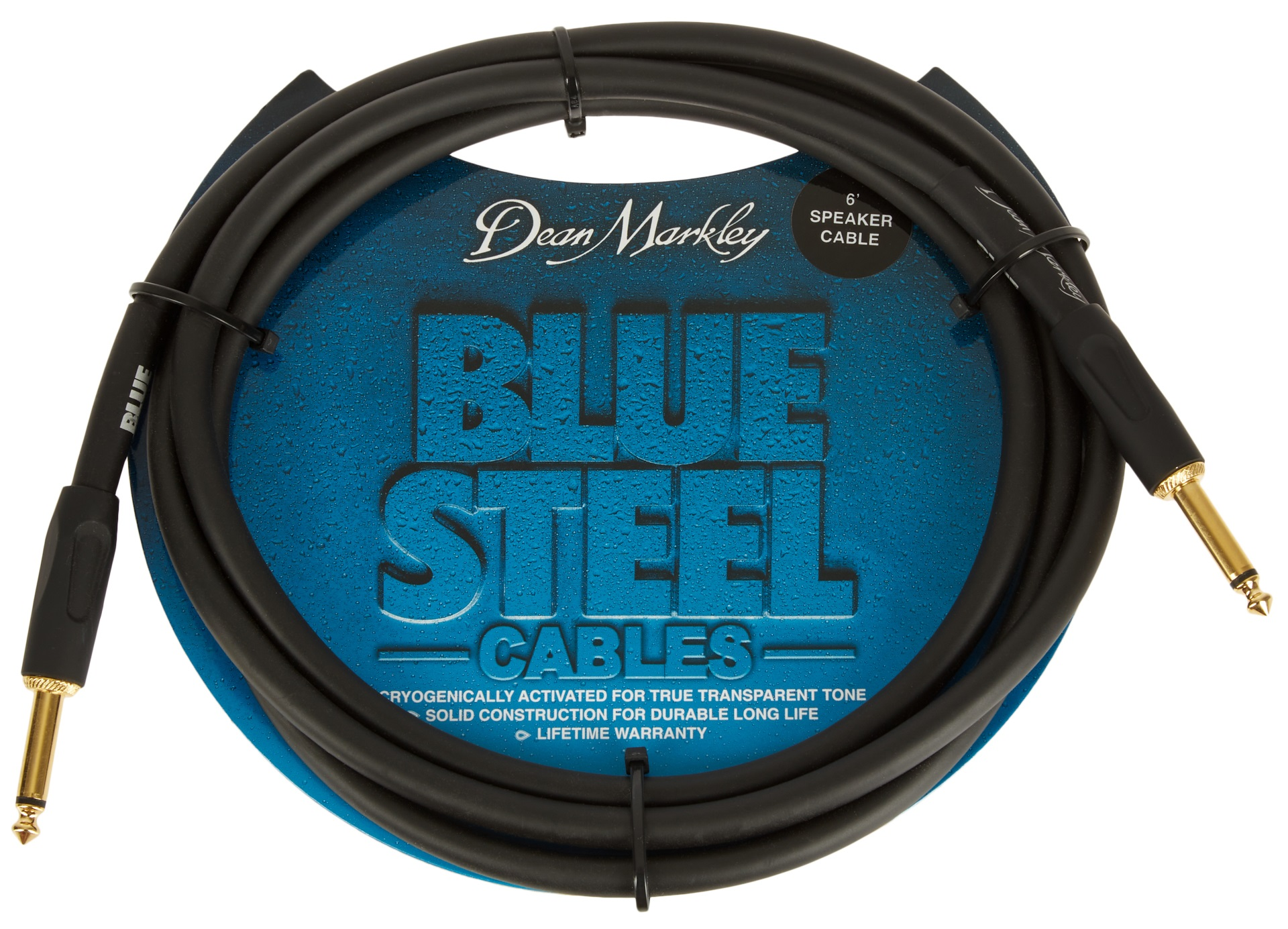 Dean Markley BSSP6S Blue Steel Speaker Cable, 6'/1.8m